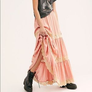 Ocean Maxi Skirt, Coral